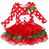 Lowpricenice(TM) Girls Princess Cute Dress Pettiskirt Party New Year Christmas Cotton Polka Dot Dress (110)