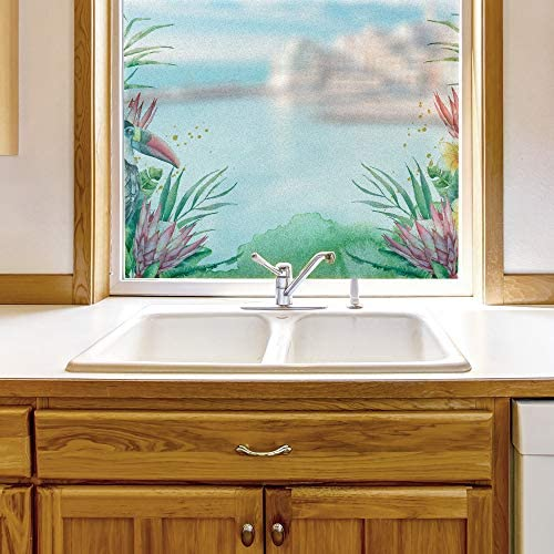 Window Film for Privacy Story Plants Large Decorative Glass Sticker for Office Home Meeting Room Bathroom Self Adhesive Anti UV Removable Flims