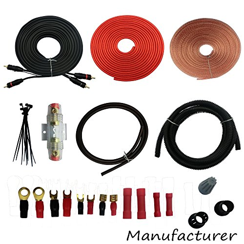8 Gauge Amp Kit Amplifier Install Wiring Complete 8 Ga Installation Cables 2000W