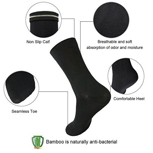 Calze Paia Calze Bambù Giunte Senza Respirabile Vestito Unisex Di Nero Equipaggio Layeba 3 pwOtq07x