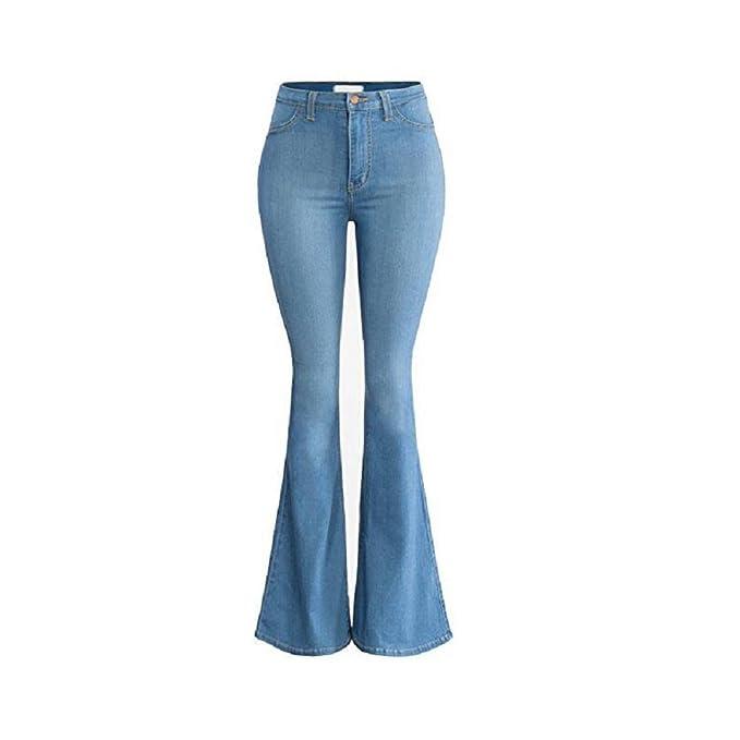 Oudan Pantalones de Mujer de Cintura Alta de Gran Tamaño ...