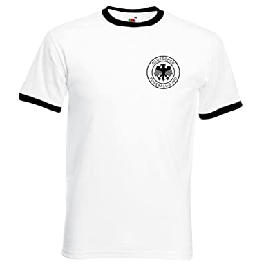 8803db12a Simplicitees Retro West Germany World Cup Shirt T-Shirt 1970 1974   Amazon.co.uk  Clothing