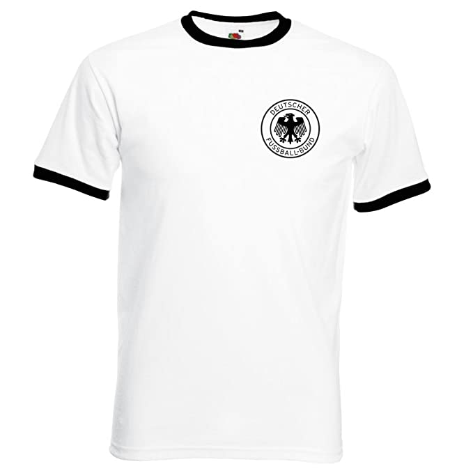 Simplicitees Retro West Germany World Cup Shirt T Shirt 1970 1974