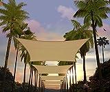 Amgo 12' x 18' Sand Beige Rectangle Sun Shade Sail