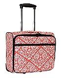 Ever Moda Damask Rolling Wheeled Laptop Case (Coral Pink)