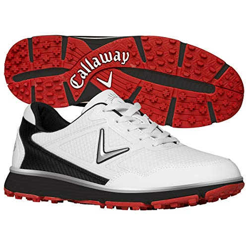 Callaway Balboa Vent Spikeless Golf Shoes White/Black 9.5 2E