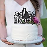 Personalized Wedding Cake Toppers Mr and Mrs Cake Topper - Bride and Groom Cake Toppers Wedding Favor | Custom Wedding Cake Topper Black #B2