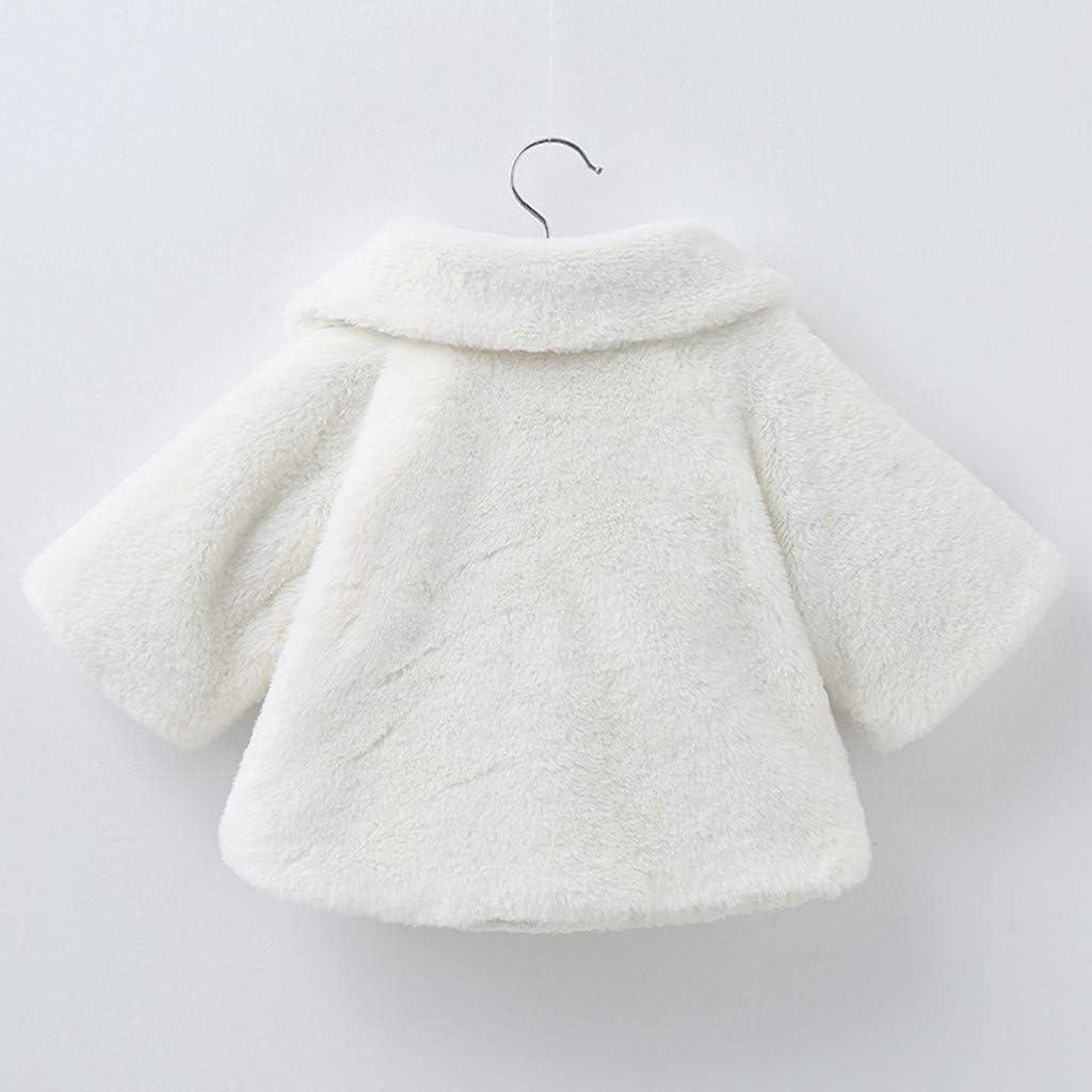 Wawer Kleinkind Baby M/ädchen Winter Langarm warme Jacke mit Kapuze Oberbekleidung M/äntel Kinder Winter warm lang/ärmeligen Fleece Schal Kapmantel 1-3 Jahre