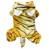 Cute Tiger Costumes for Dog Clothes Pet Dog Jumpsuit Coat Pet Cat Apparel-L, My Pet Supplies