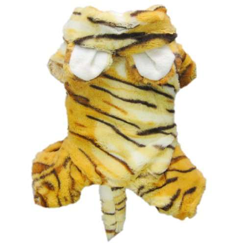 Cute Tiger Costumes for Dog Clothes Pet Dog Jumpsuit Coat Pet Cat Apparel-L, My Pet Supplies