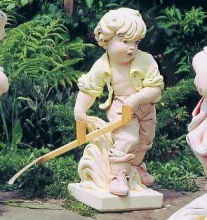 Chico con sense (pintado a mano) figura para jardín fabricado en hormigón mecanismo piedra figuras de jardín-Estatua jardín escultura de piedra: Amazon.es: Hogar