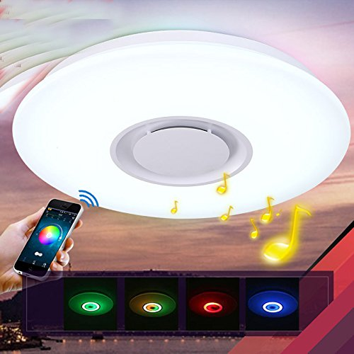 Horevo 36w Led Ceiling Lights With Bluetooth Speaker
