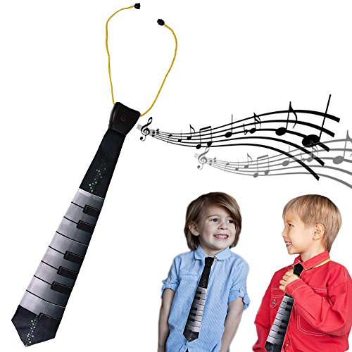 Dazzling Toys Electric Play Me Musical Piano Necktie Kids Costume Party (Play Neckties)