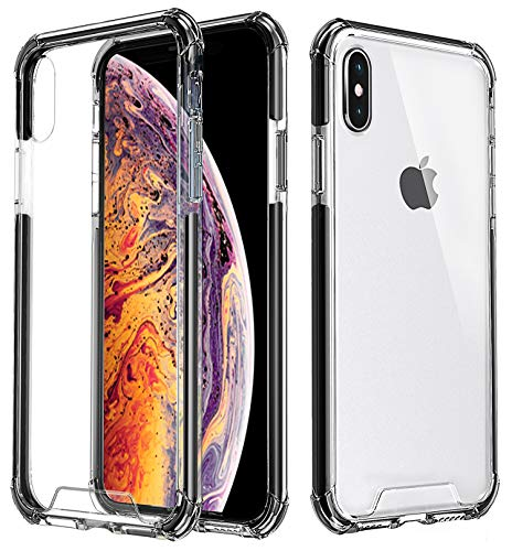 Comsoon iPhone Xs Max Case, Clear Slim Case Cover with Corner Bumper Protection, Hybrid Hard PC Back & TPU Frame with Elastic TPE Interior Lining Edge for Apple iPhone Xs Max 6.5 inch 2018 (Clear)
