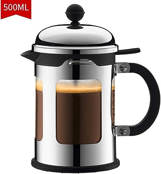FYHKF Cafeteras de émbolo Cafetera Francesa de presión Cafetera de Vidrio Tetera con Filtro Resistente al Calor 500 ml, 10.5 * 19.5 cm: Amazon.es: Hogar