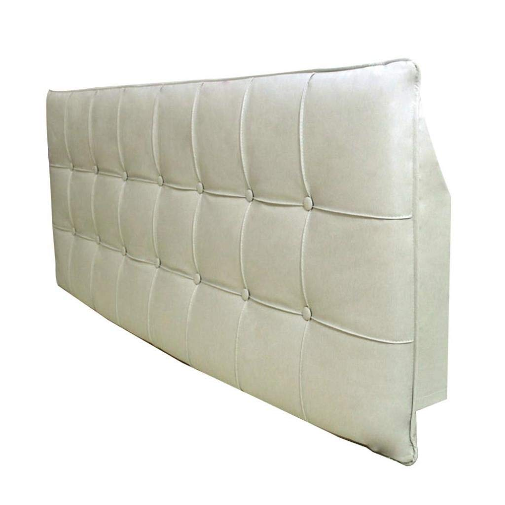 ZXMDMZ Side Cushion Soft Case Support Waist Pad Smooth Safe PU with 5 Colors 6 Sizes (Color : C No Headboard, Size : 120cm)