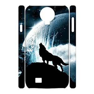 SamSung Galaxy S4 I9500 Wolf 3D Art Print Design Phone Back Case DIY Hard Shell Protection TY011591