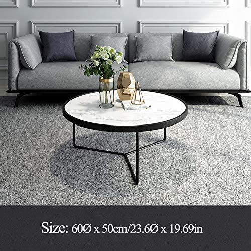 Grote Uitverkoop ZRRtables salontafel eenvoudige moderne Scandinavische creatieve ronde kleine koffietafel woonkamer marmer sofa bijzettafel, wit  To6XXKe
