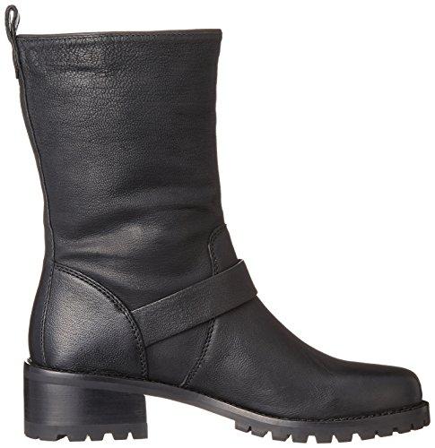 Cole Motorcycle Boot Black Leather Women's Hemlock Haan rAwaHqr