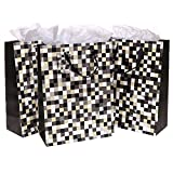 Set of 3 Cool Pixels Style Party / Birthday Gift Bags and Tissues