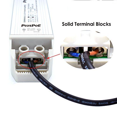PLUSPOE LED Light Strip 50W Dimmable Driver(4.15A),Magnetic,110V AC to 12V DC Transformer,Low Voltage Power Supply,Compatible with Lutron and Leviton dimmer, For Kitchens, Cabinets, Bedrooms and More by PLUSPOE (Image #2)