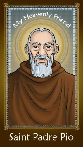 - SAINT PADRE PIO CHILDREN'S 2-SIDED HOLY CARD W/ PRAYER (4-CARDS PER PACK)HE