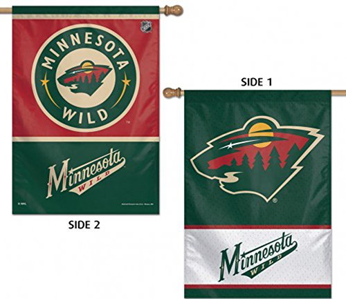 WinCraft NHL Minnesota Wild 2 Sided Vertical Flag, 28 x (Minnesota Wild Flag)