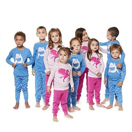 Boys Pajamas Shark 2 Piece 100% Super Soft Cotton (12m-8y) by Bluenido (Image #2)