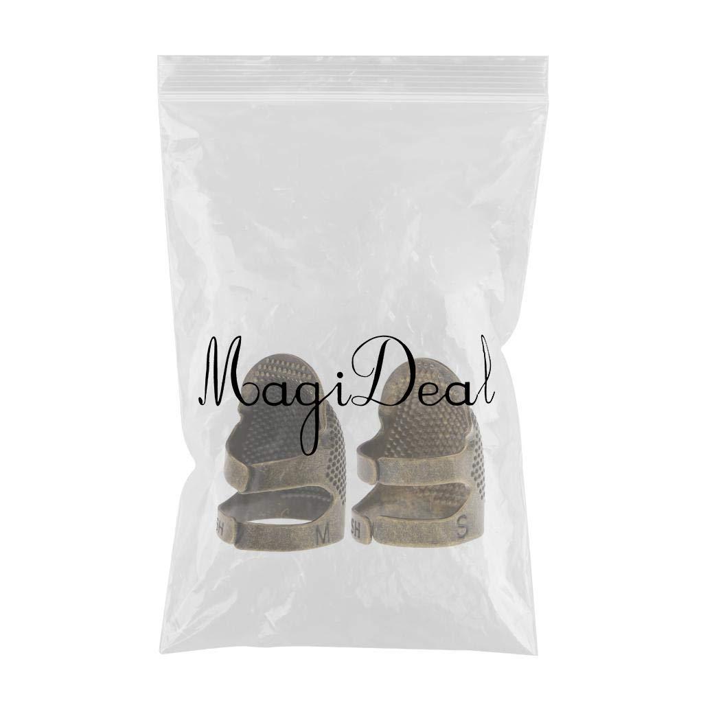 MagiDeal 2 St/ück Metall Fingerhut Fingerschutz Schnittschutz Finger Fingerlinge