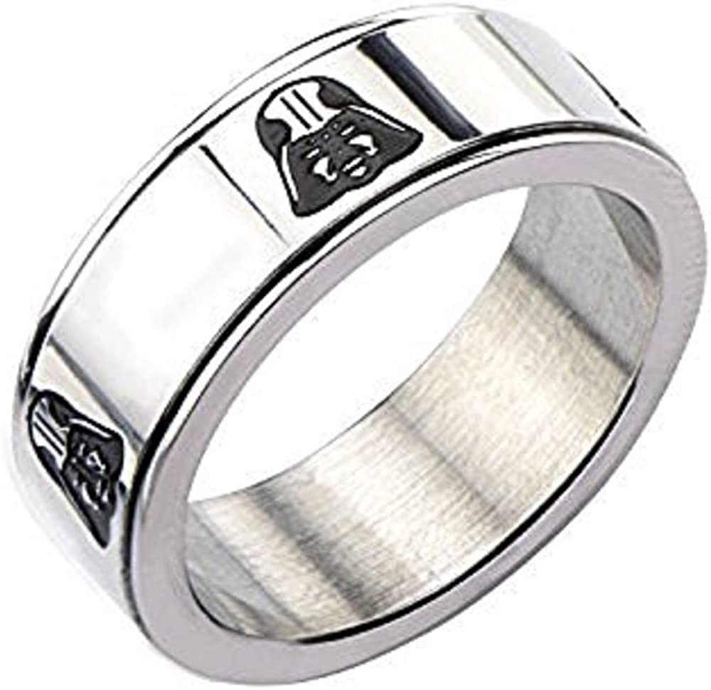Men's Stainless Steel Star Wars Darth Vader Spinner Ring