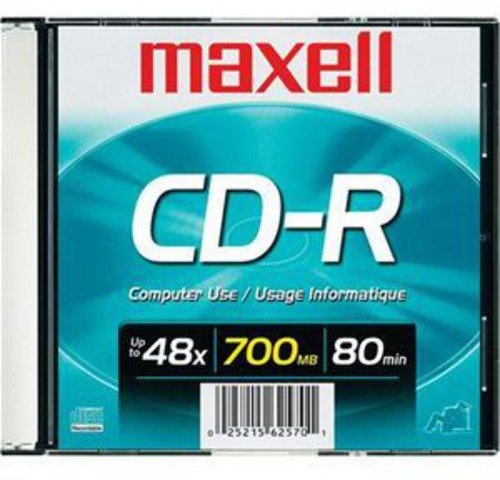 Maxell CDR700 1-Pack 700MB Blank Recordable CD 648201 Maxell - Accessories Accessory Consumer Accessories Miscellaneous Equipment