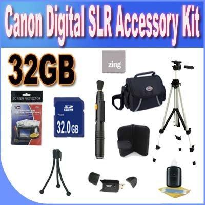 Digital SLR Camera 32GB SDHC Deluxe Accessory Saver - Digital Camera Accessories