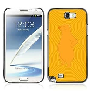 YOYOSHOP [Funny Bear Pattern] Samsung Galaxy Note 2 Case
