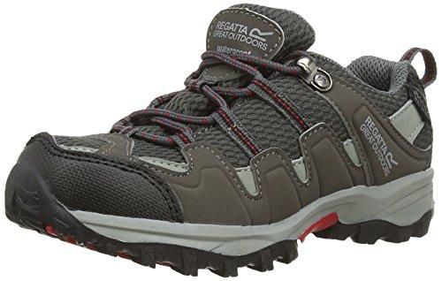 Regatta Garsdale Low Jnr B Zapatos, Niños Multicolor (Granite/Chilli Pepper)