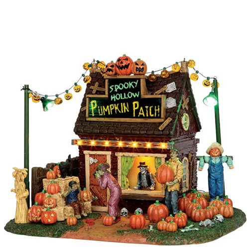 Lemax Spooky Town Spooky Hollow Pumpkin Patch Battery Operated # 54902 -