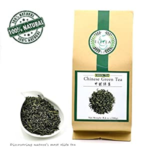 Elitea Quality Daily Green Tea Loose Leaf- 100% Natural Wild Grown China Chinese Restaurant Teas (7.1 Ounce, 200g)