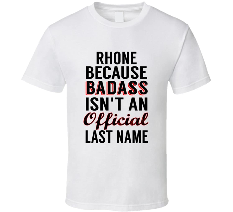 Zahnow Because Badass Isnt An Official Name T Shirt