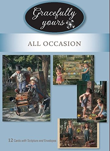 Religious Anniversary Card - Gracefully Yours All Occasion Greeting Cards - Celebrating Life featuring Artist Bob Byerley, 12, 4 designs/3 each with Scripture Message