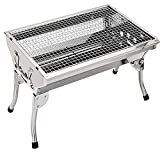 Small Fold Simple Outdoor Barbeque,Charcoal Grill Combo,Barbecue Grill and Smoker Heat Control