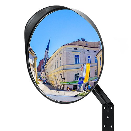 AGYVVT Convex Mirror Acrylic Breakage-Adjustable Proof Traffic Security Mirror for Indoor & Outdoor Use (12