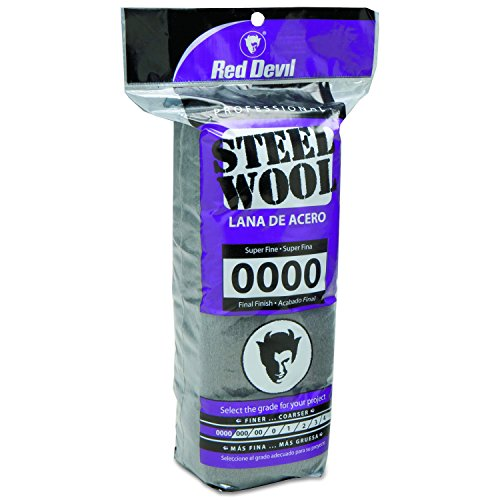 Red Devil 0310 Steel Wool, 0000 Super Fine, 16 Pads