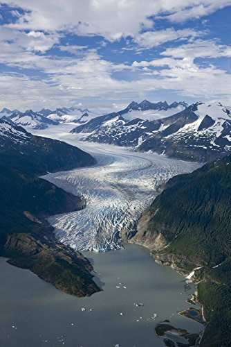 - Posterazzi Aerial View Glacier Winding Its Way Icefield to Mendenhall Lake in Tongass National Forest Near Juneau Alaska Poster Print (11 x 17)