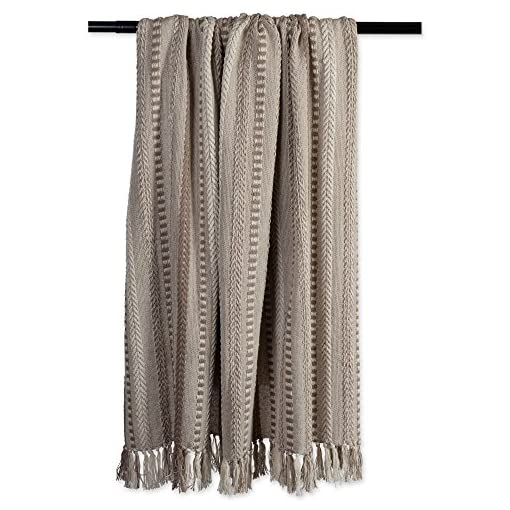 Bedroom DII Farmhouse Cotton Stripe Blanket Throw with Fringe For Chair, Couch, Picnic, Camping, Beach, & Everyday Use , 50 x 60… farmhouse blankets and throws