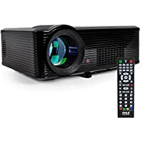 Pyle LCD LED Video Projector HD 1080P, Home Theater Projector with Built-in Stereo Speakers, 2 HDMI Ports, PiP, 800x600 Native Resolution, Adjustable Optical Keystone for TV PC Computer & Laptop
