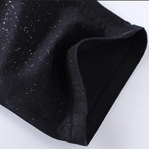 Chomay Herren Punk Stil Jeanshose Chino Röhrenjeans Freizeithose Clubwear Tiger und Wolf Druck Straight Slim Fit Nr.Y057 Gr. W28 bis W36