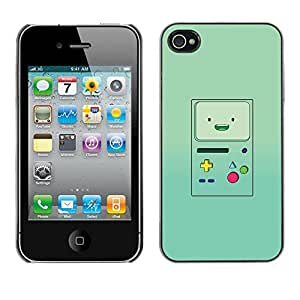 Plastic Shell Protective Case Cover || Apple iPhone 4 / 4S || Console Green Retro @XPTECH