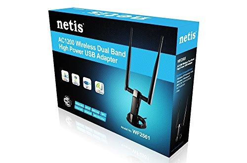 Netis WF2561 Wireless AC1200 500mW High Power USB Adapter, Supports Windows, Mac, Linux, 5 dBi Antennas, Free USB Cradle by Netis (Image #3)