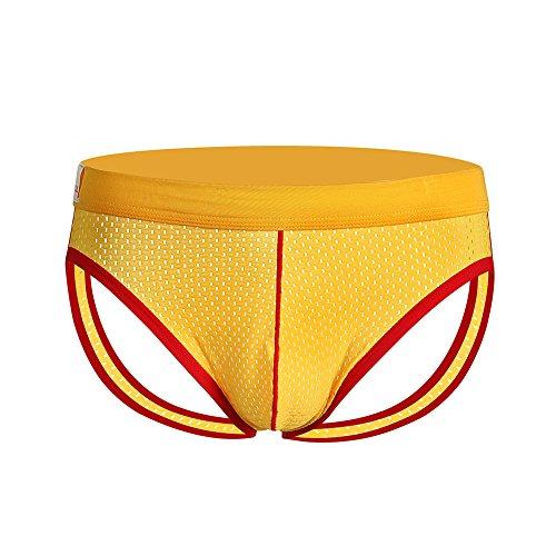Men Sexy G-String Thongs Bulge Pouch Bikini Open