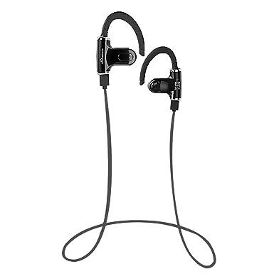 Auriculares deportivos inalámbricos, con Bluetooth y micrófono. Auriculares interiores de