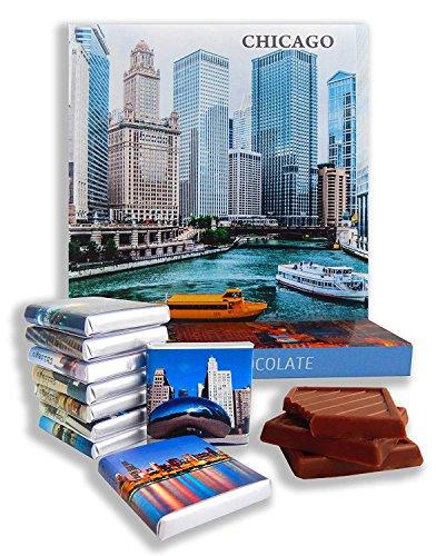DA CHOCOLATE Candy Souvenir CHICAGO CITY Chocolate Gift Set 5x5in 1 box (0269)(River Prime 2)